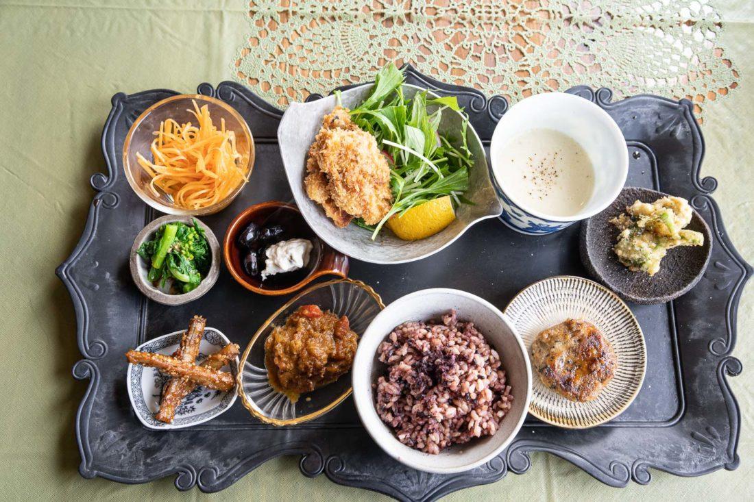 Déjeuner à Padma, l'un des meilleurs endroits pour la nourriture végétarienne à Kyoto