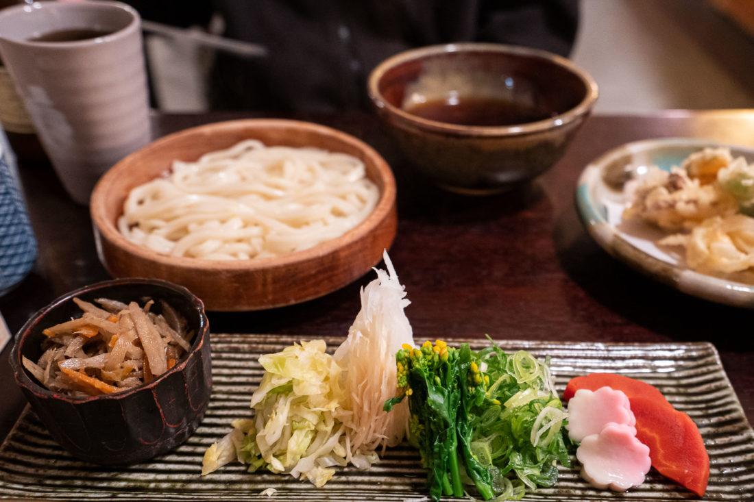 Un udon végétalien à l'Omen Kodai-ji à Kyoto