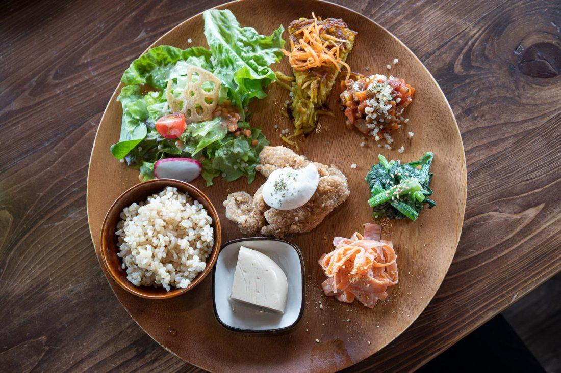 Obanzai au Veg Out, un restaurant végétalien de Kyoto