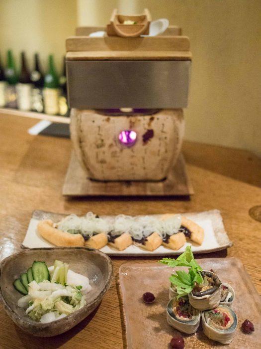 Tofu végétarien à Sorano, Tokyo