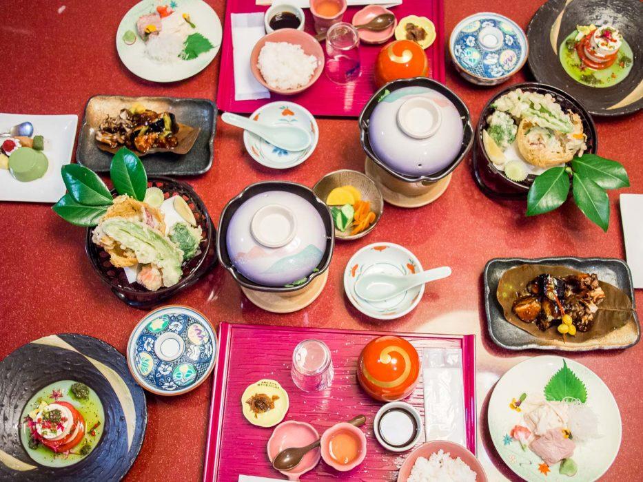 Dîner ryokan végétarien à l'hôtel Musashiya, Hakone