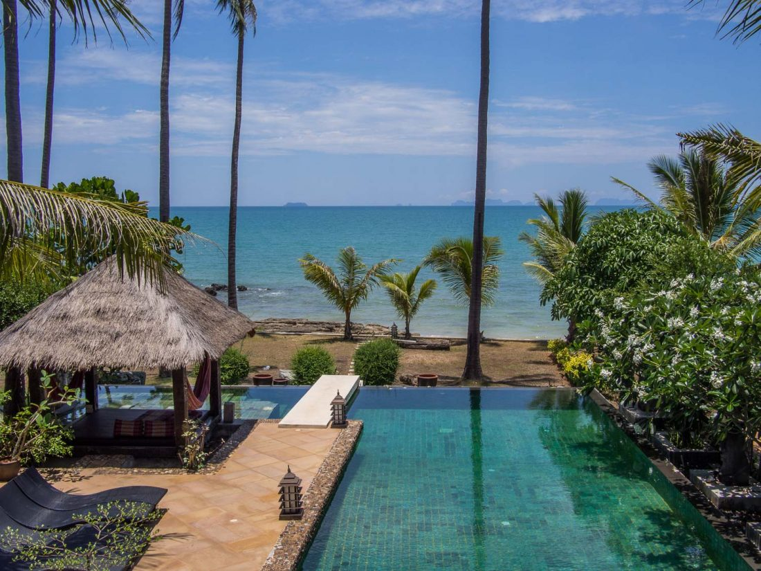 The pool at our beachfront A2 villa in Malee Seaview, Long Beach, Koh Lanta