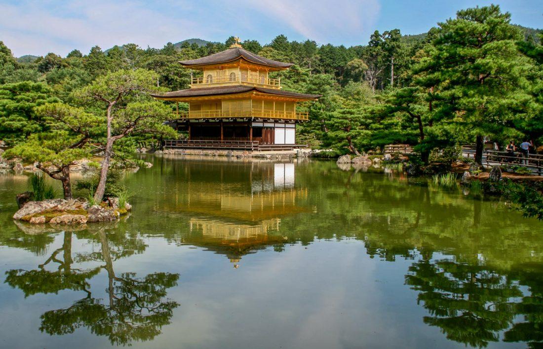 Kinkakuji, le temple d'or de Kyoto, l'un des meilleurs endroits à visiter au Japon.