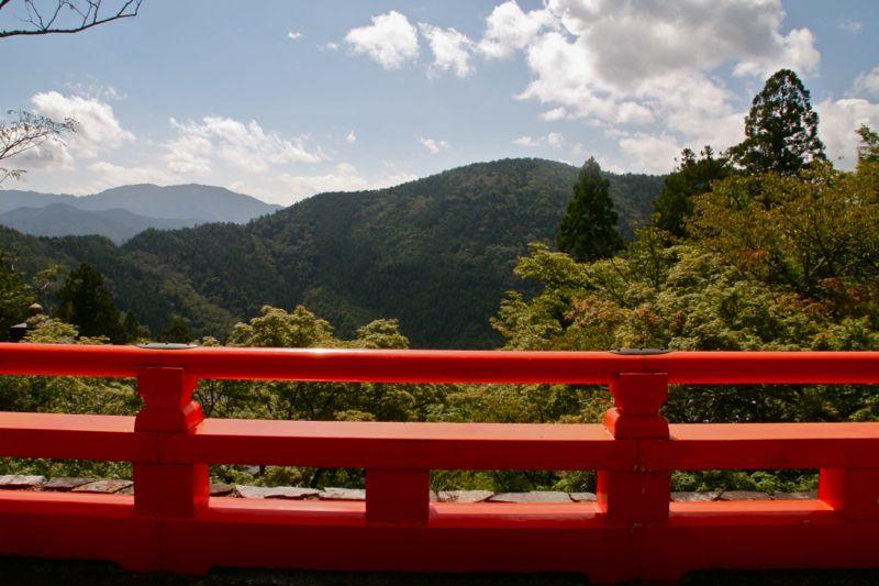 La vue au temple Kurama-dera à Kyoto