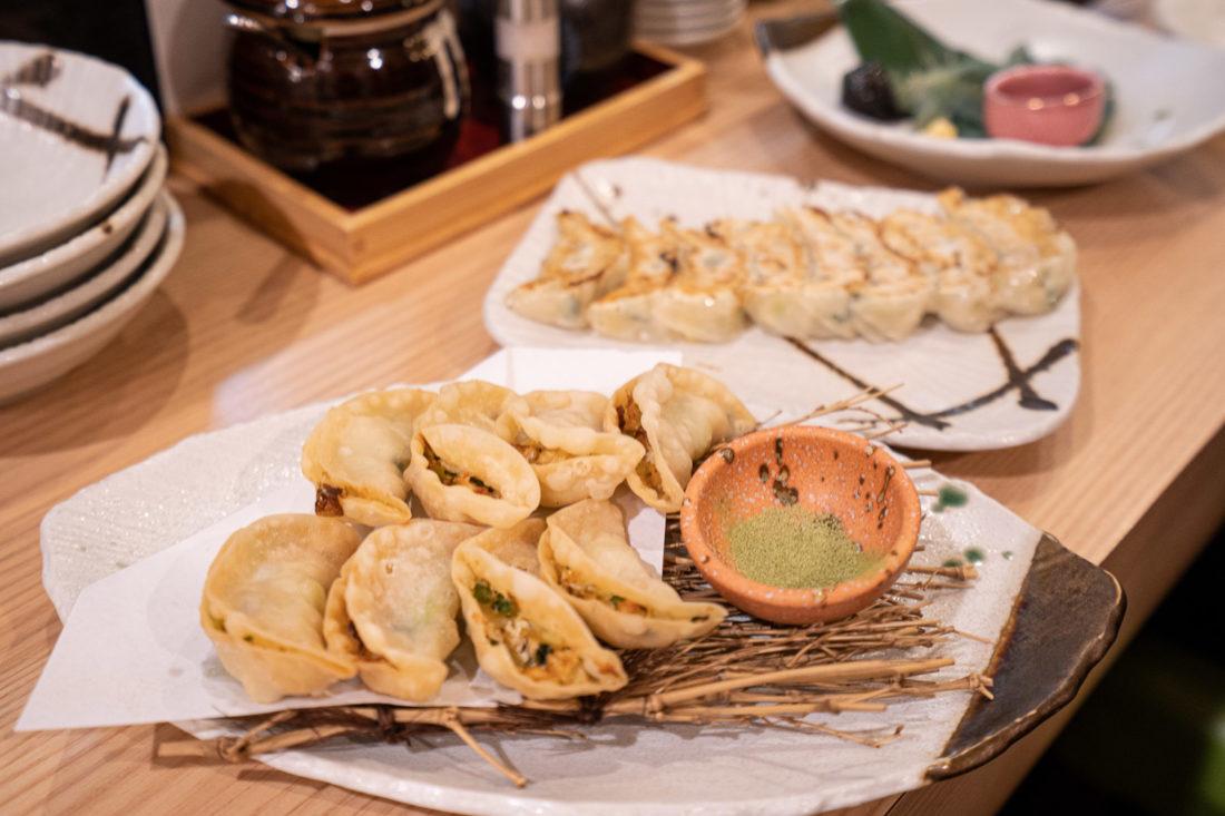 Gyoza végétarien à Osaka chez Gyozaoh Dotonbori