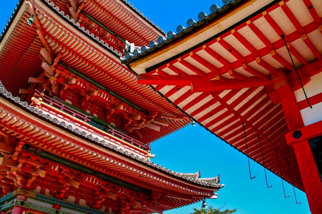Pagode au temple Kiyomizu-dera à Kyoto