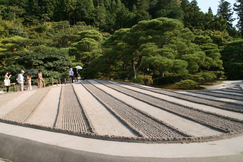 Jardin zen au temple Ginkakuji à Kyoto, Japon