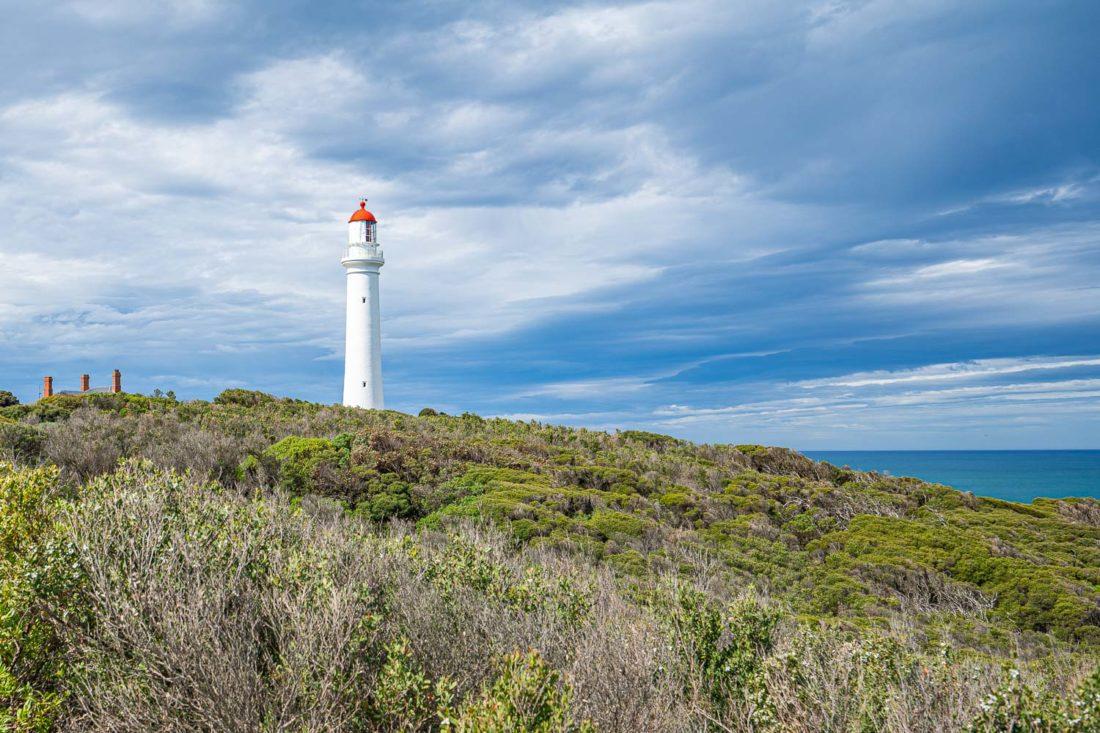 Phare de Split Point à Aireys Inlet sur la Great Ocean Road, Australie