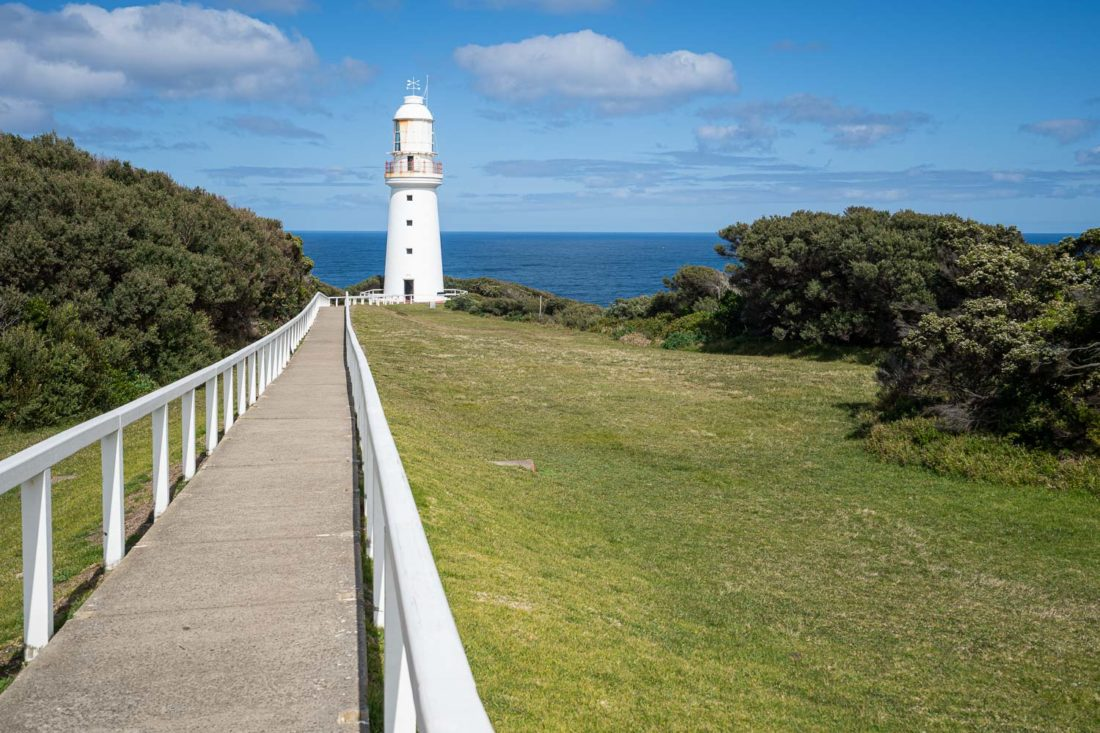 Phare du phare de Cape Otway sur la Great Ocean Road