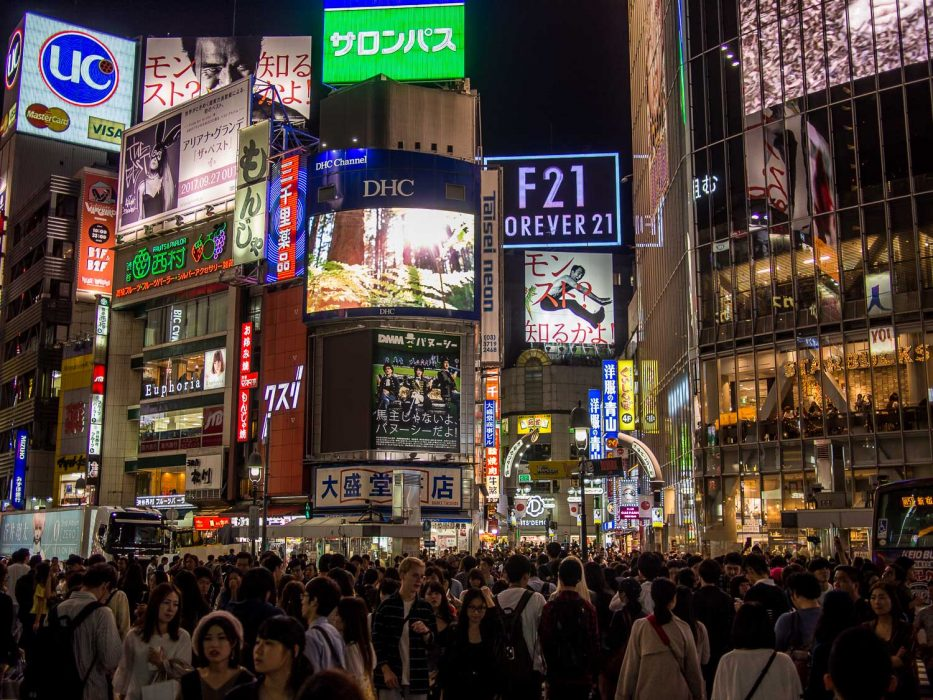 Traversée de Shibuya à Tokyo, Japon