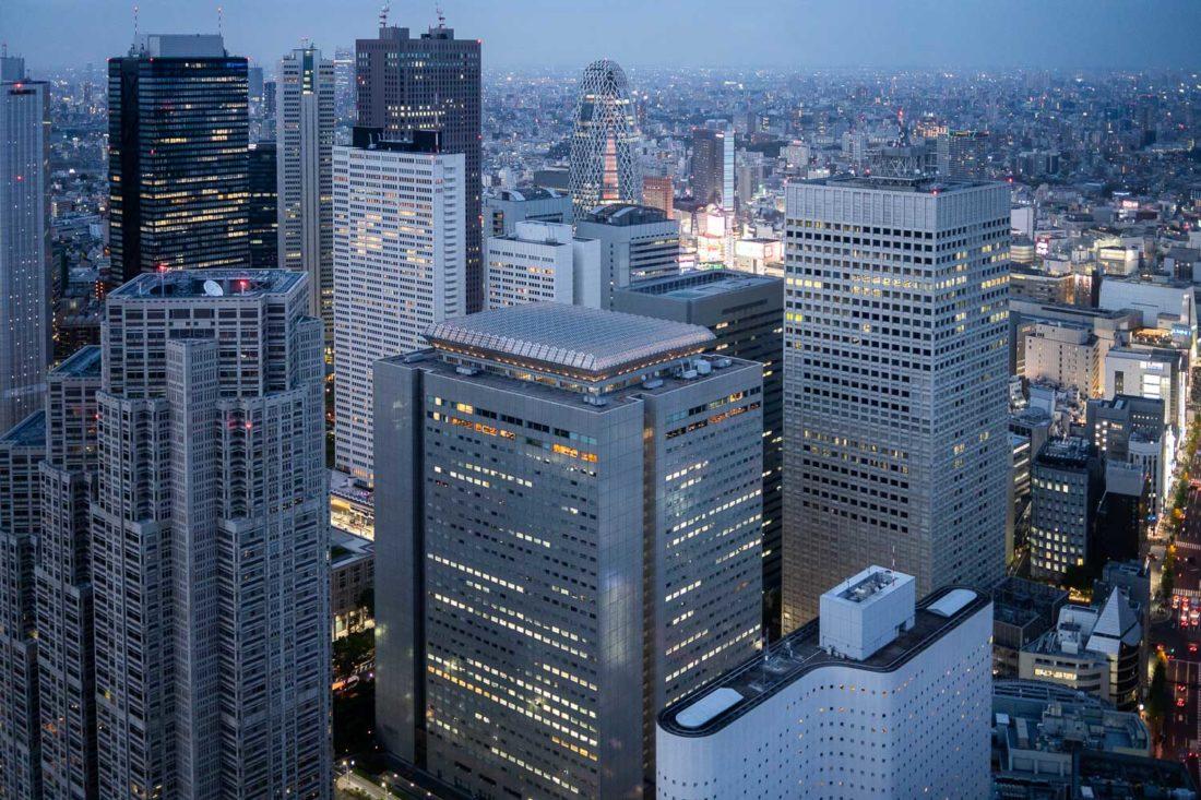 Vue du bar Park Hyatt New York à Tokyo
