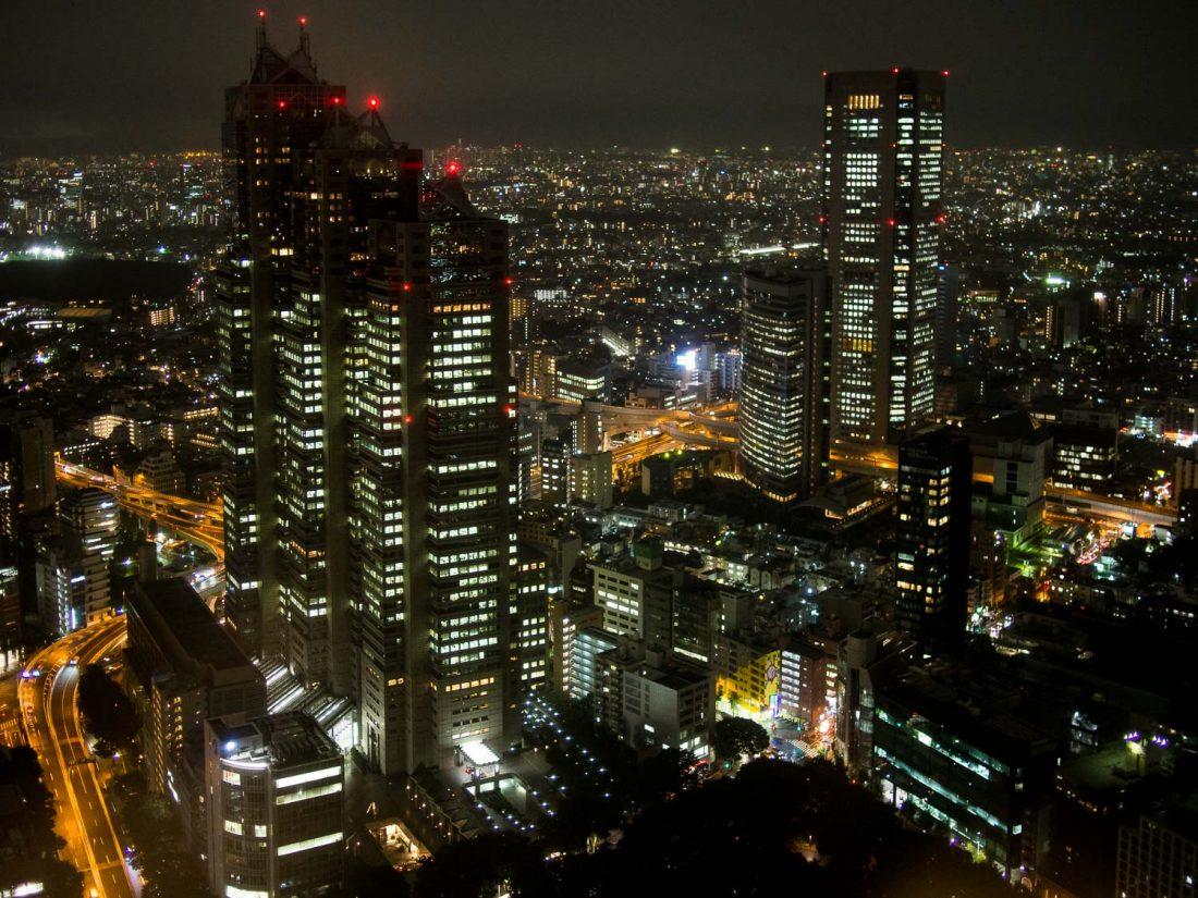Vue libre de Tokyo du bâtiment du gouvernement métropolitain de Tokyo à Shinjuku, la meilleure zone pour rester à Tokyo