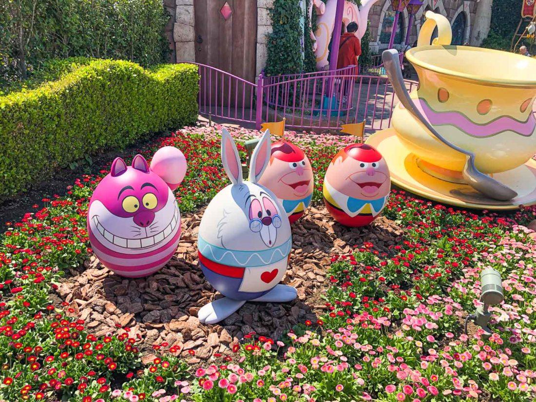 Décorations d'oeufs de Pâques à Tokyo Disneyland