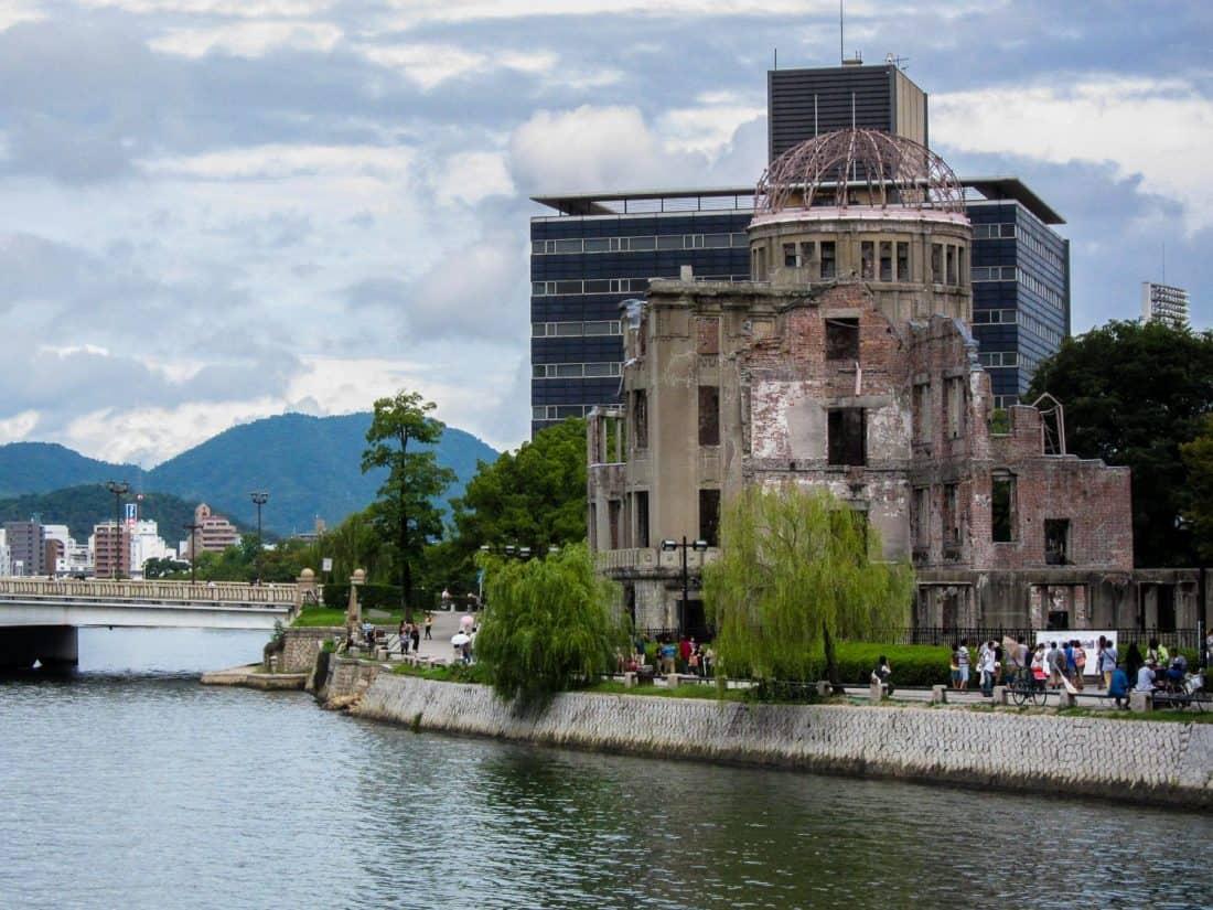 """Dôme de la bombe atomique au Mémorial de la paix d'Hiroshima, Japon """"width ="""" 1100 """"height ="""" 825"""