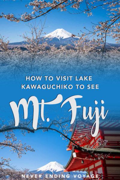 Voici comment visiter le lac Kawaguchiko pour voir le mont. Fuji au Japon