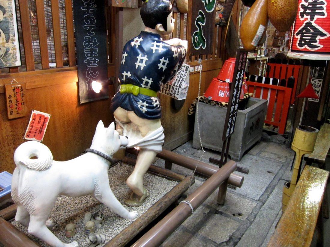 Statue étrange à Kyoto - attendez-vous à des éclats de freakery lors de la planification d'un voyage au Japon pour la première fois