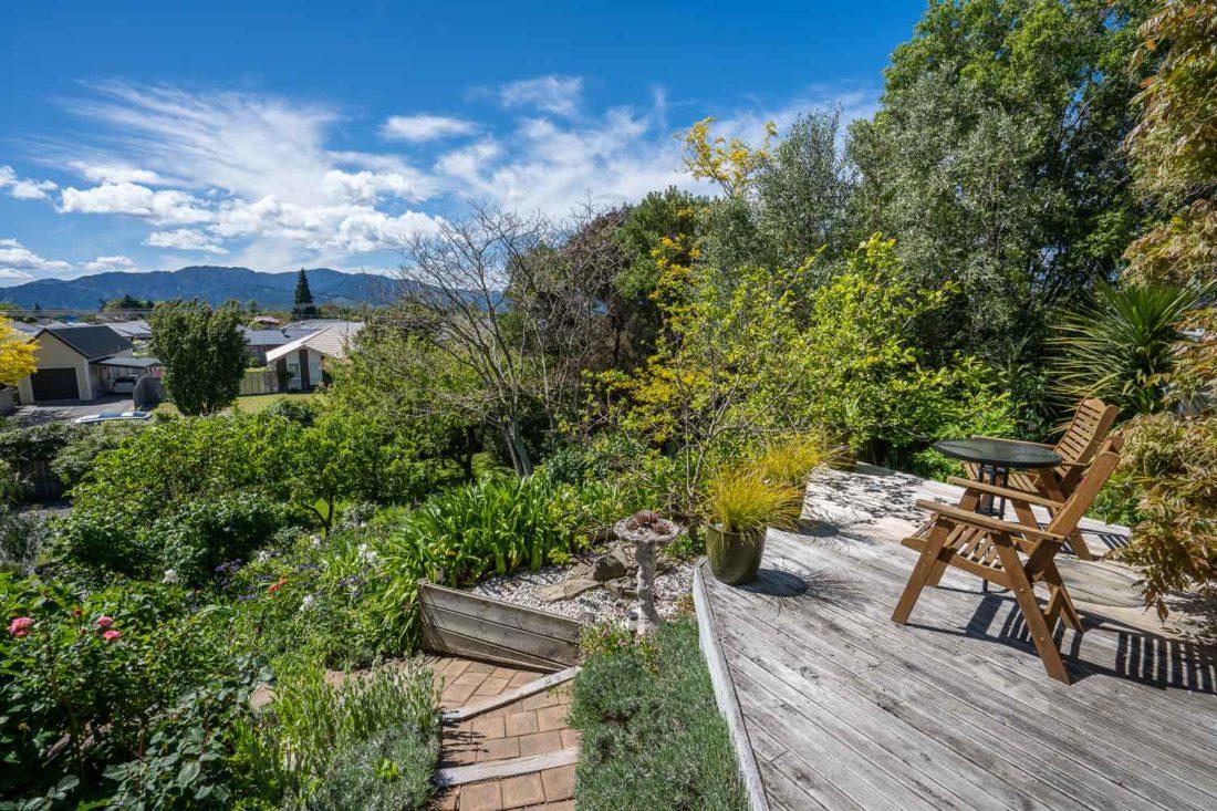 Le jardin de l'Olde Mill House B&B à Marlborough, Nouvelle-Zélande