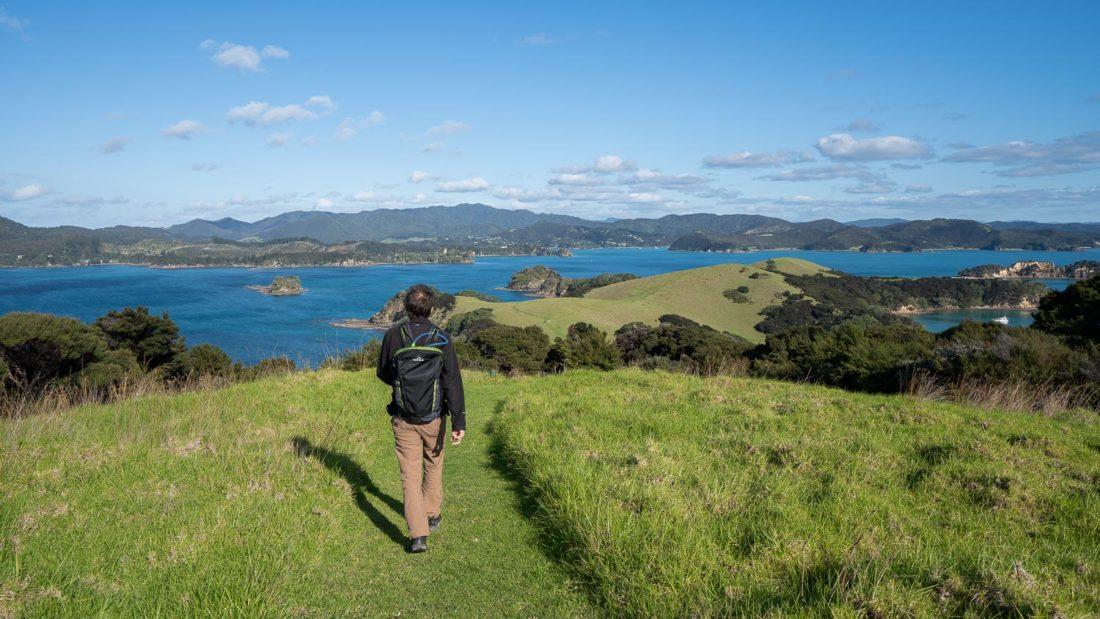 Marcher sur l'île d'Urupukapuka
