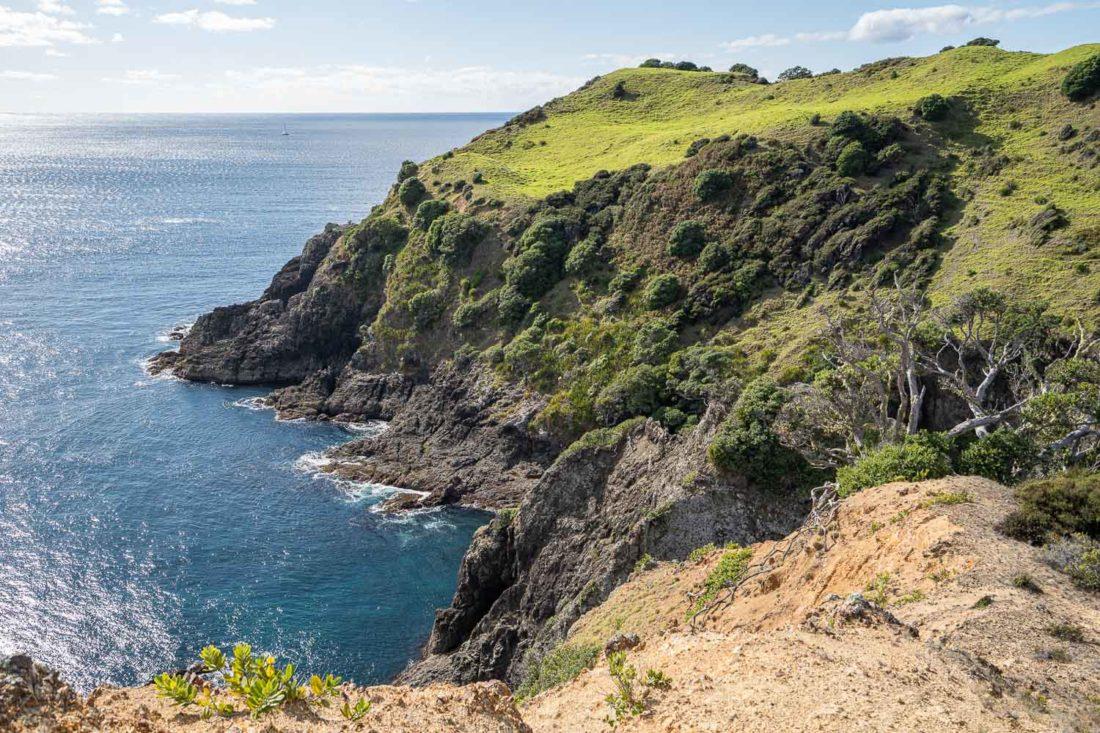 Cliffs on the Cliff Pa Loop Walking track sur l'île d'Urupukapuka