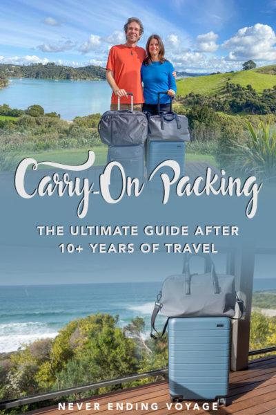 Tous les meilleurs conseils d'emballage et une liste de bagages à emporter après plus de 10 ans de voyage!   continuer à emballer un avion, continuer à emballer des hacks, garder une valise sur la liste de colisage, continuer à emballer la liste des articles essentiels de voyage
