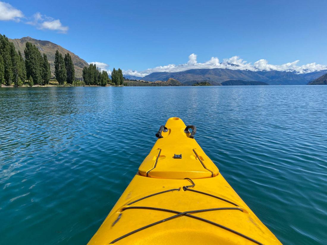 Kayak du lac Wanaka à l'île Ruby
