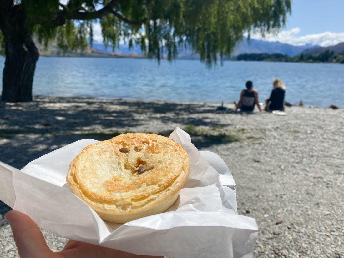 Tarte de la boulangerie Doughbin au lac Wanaka
