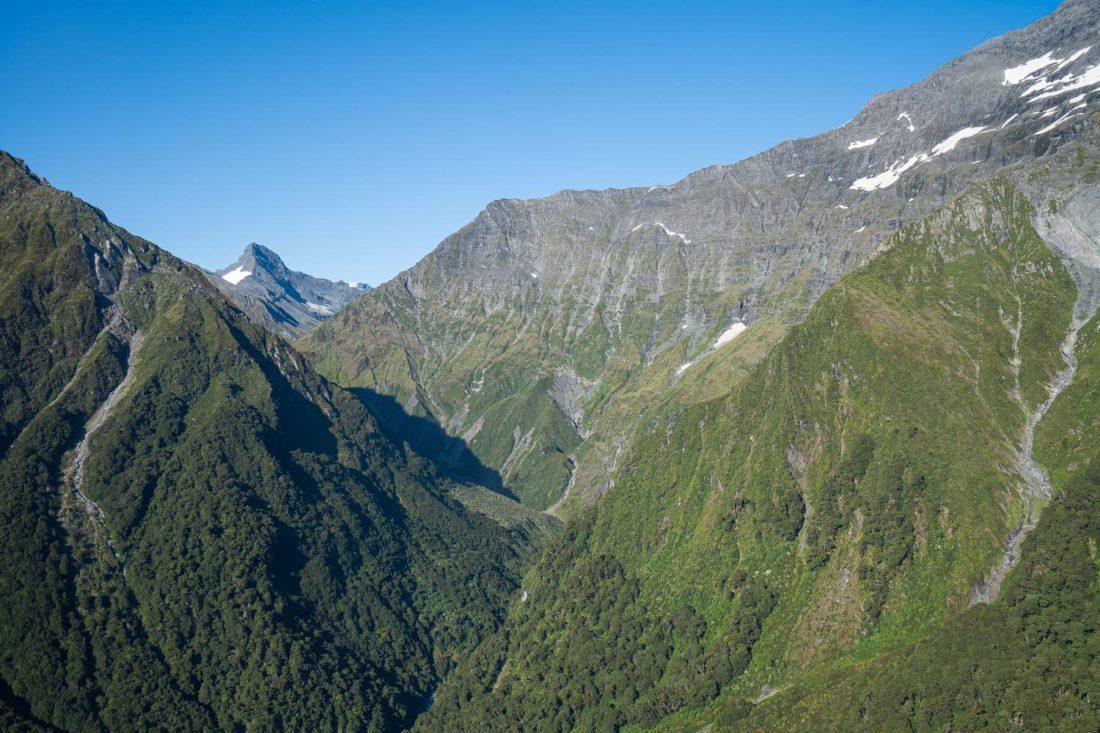 Vue depuis le trajet en avion sur l'expérience de la Sibérie, Nouvelle-Zélande