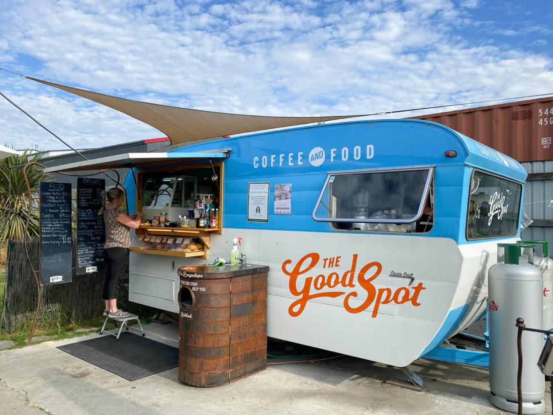 Le chariot à café Good Spot à Wanaka