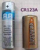 CR123A vs pile AA