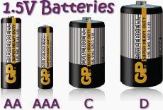 Batteries 1.5V
